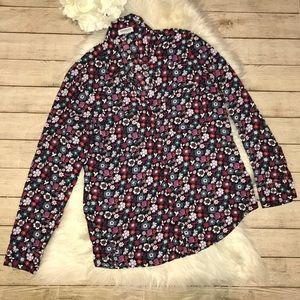 Express Floral Portofino Button Up Shirt